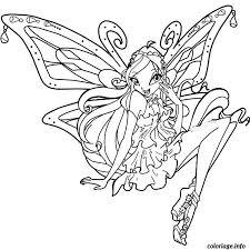 Coloriage Winx Enchantix dessin