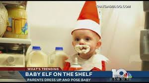 baby on the shelf turns baby into real on a shelf