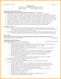 Resume Summary Of Qualifications Example 94 Summary Of Skills Resume Examples Skills And