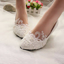 wedding shoes bridal flat wedding shoes ebay