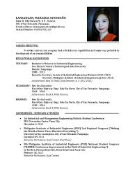 Example Of Resume For Fresh Graduate Example Of Resume For Fresh Graduate Information Technology