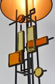 tall sculptural table lamp by svend aage holm sorensen denmark