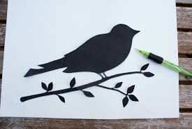 8 best images of simple bird stencils free printable love bird