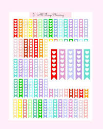 To Do Stickers Heart Flags To Do List Planner Sticker Printable Digital