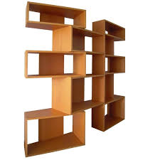 Bookcase Wide Italian Wide Bookcase By Bernini In Beech Wood Light Color Late