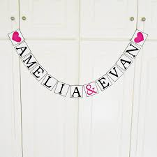 free shipping personalized wedding name banner bridal shower