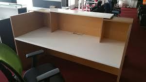 Reception Desks Brisbane by Classic White And Charcoal Reception Desk Counter 1 8m Wide Oz