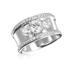 wide wedding bands image result for beveled thick diamond wedding band ring design