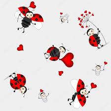 seamless pattern with cute ladybird vector u2014 stock vector
