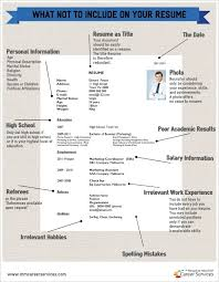 What Not To Put On A Resume 92 Best Career Infographics Images On Pinterest Career Advice