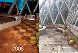 how do bison deck tiles weather over time weathered ipe deck