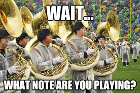 Tuba Memes - wait what note are you playing confused tuba quickmeme