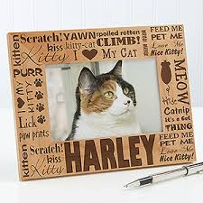 personalized cat gifts personalized cat picture frames
