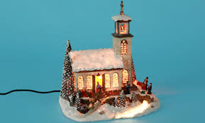 fibre optic ornament church