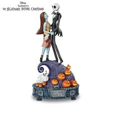 the nightmare before and sally musical figurine