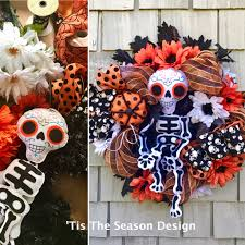 day of the dead wreath dia de los muertos wreath halloween