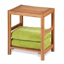 patio spa bench bamboo shower chair garden bath stool poolside