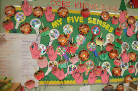 bulletin board for the five senses domain hand held mirrors out
