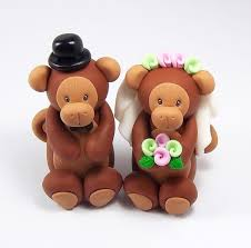 monkey cake topper monkey cake topper wedding cake topper zodiac sign