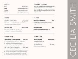Best Resume Format And Font by Resume Resume Font Type