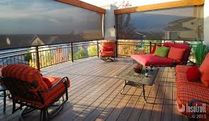 Backyard Shade Solutions by Exterior Patio Shades Block The Sun Not The View