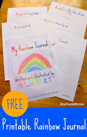 free printable rainbow stationery rainbow theme free printable journal pages for kids nurturestore