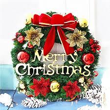 wreath merry decorated pine