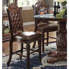 shermag dining room furniture acme 62004 vendome cherry pu leather side chair set of 2 ebay