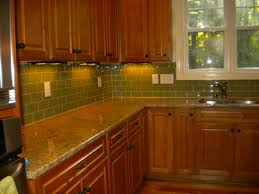 kitchen interior soft blue subway tile kitchen backsplash with
