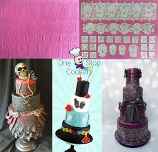 cake lace cake lace the day of the dead 3d silicone cake lace mat skulls