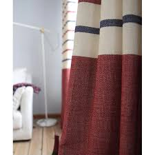 Navy And Red Shower Curtain Blue And Red Horizontal Striped Jacquard Burlap Contemporary