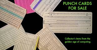 vintage computer punch cards for sale store gift shop