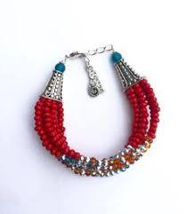Antiqued Pink And Fuschia Beaded Boho Heart Necklace Sea Shell Necklace Beaded Necklace