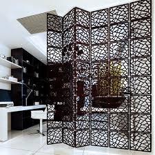 fashion fiber carved solid wood hanging screen room divider