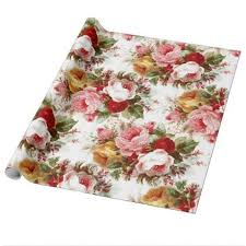 shabby chic wrapping paper vintage shabby chic wedding floral wrapping paper vintage