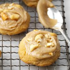 frosted cashew cookies recipe taste of home