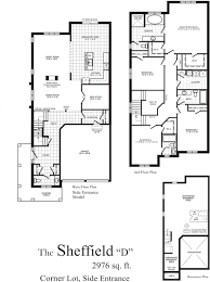 Corner Lot Floor Plans Sheffield 2958 Sq Ft Centerville Westin Homes