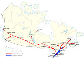 Eurostar Route Map by Canada Redux Ii