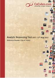 analytic reasoning test art tips u0026 tricks