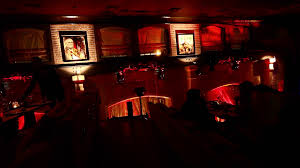 restaurant halloween party scary dark interior decorations in red