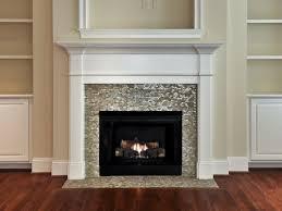 granite lantern fireplace surrounds with mosaic tile mosaic tile