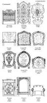 Antique Chair Styles by 137 Best Diagrams Of Antique Furniture Images On Pinterest