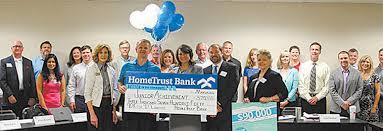 hometrust bank presents award greenville journal