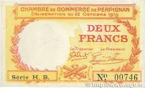 chambre des commerces perpignan 2 francs regionalism and miscellaneous perpignan 1919 jp