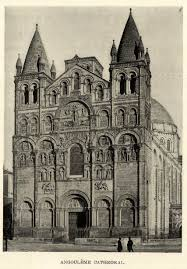 the cathedral of saint pierre angouleme arch french romanesque