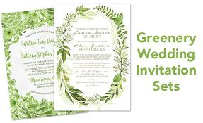Wedding Invitation Sets Botanical Greenery Wedding Invitation Sets