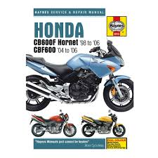 honda cb600 f hornet u0026 cbf600 haynes workshop manual service