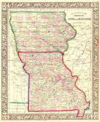 missouri map images county map of the states of iowa and missouri geographicus