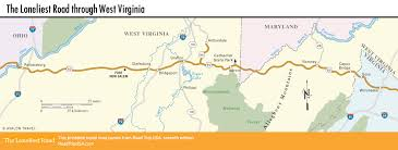 Pony Express Route Map by The Loneliest Road Across West Virginia Road Trip Usa