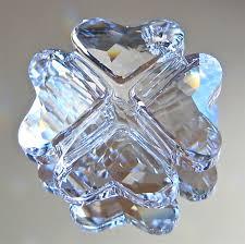 swarovski four leaf clover prism ornament pendant 28mm